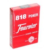 Карты для покера Fournier 818 (красные) | Полупластик